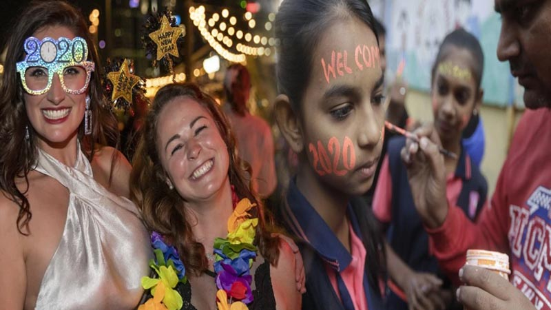 Watch in pics how the world welcomed year 2020