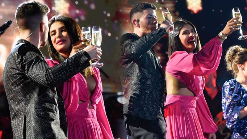 See how Priyanka Chopra celebrated New Year with style at Jonas Brothers concert. Pics Inside