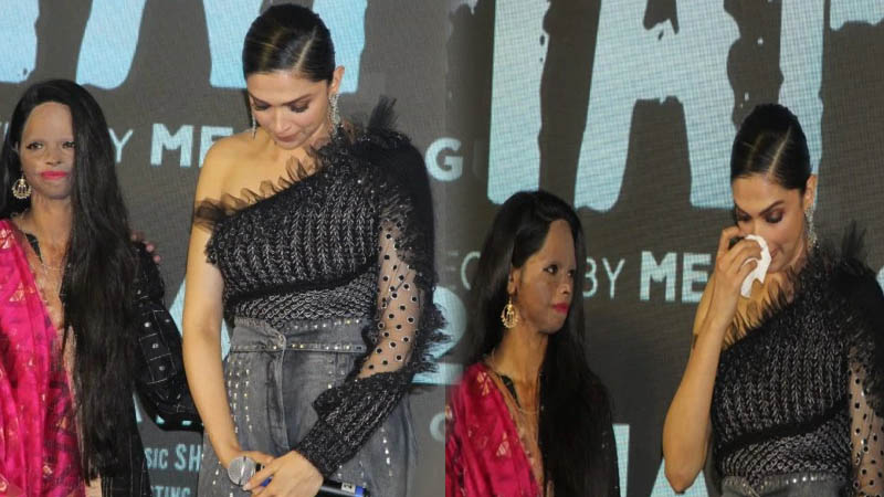 See in pics how Deepika Padukone breaks down at Chhapaak title song launch with Meghna Gulzar