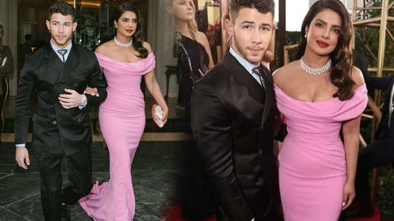 Golden Globes Award 2020: Priyanka Chopra looks like a mermaid in pink gown with diamonds. Pics Inside