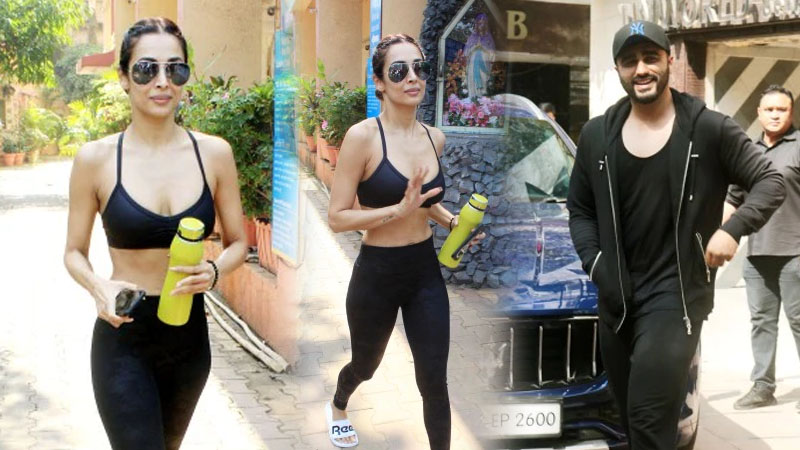 Malaika Arora and Arjun Kapoor gym together in bold all-black look. See Pics
