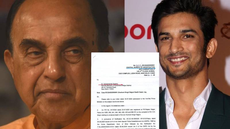 """""""Murder not ruled out"""": CBI breaks its silence in Sushant Singh Rajput's case responds to Dr. Subramanian Swamy's letter"""