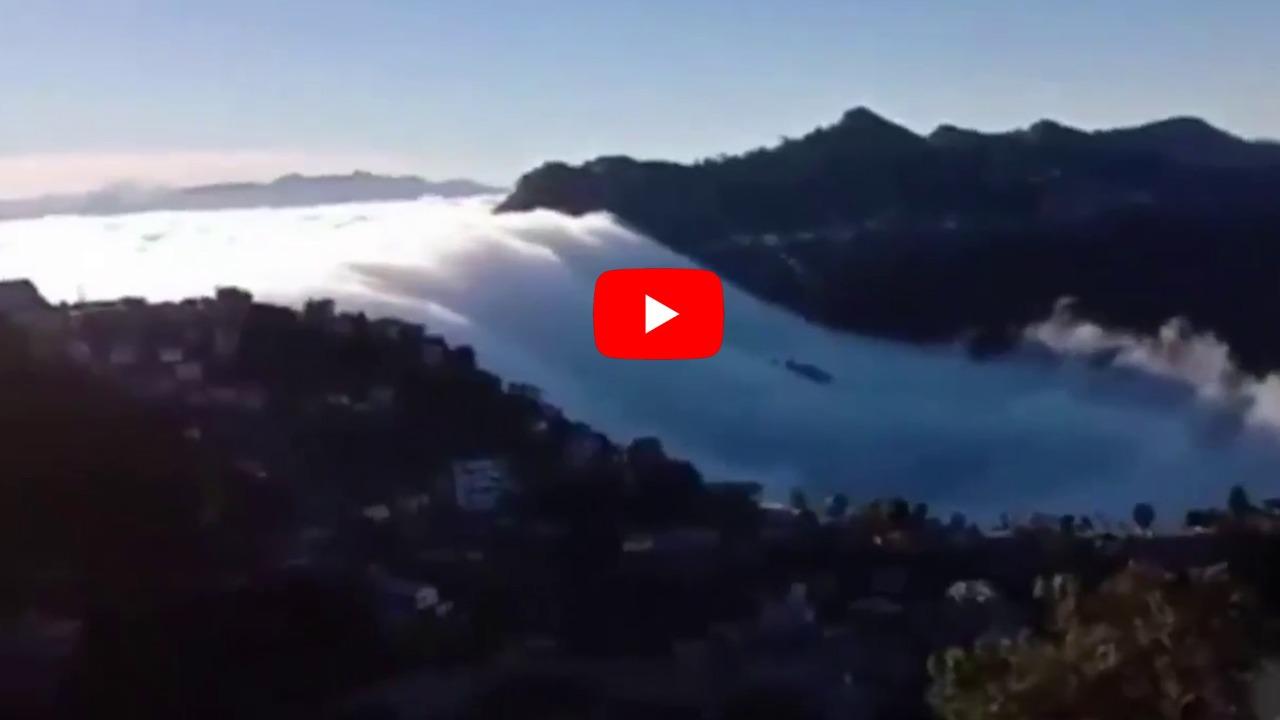 Watch: Mesmerizing video of cloud waterfall from Mizoram