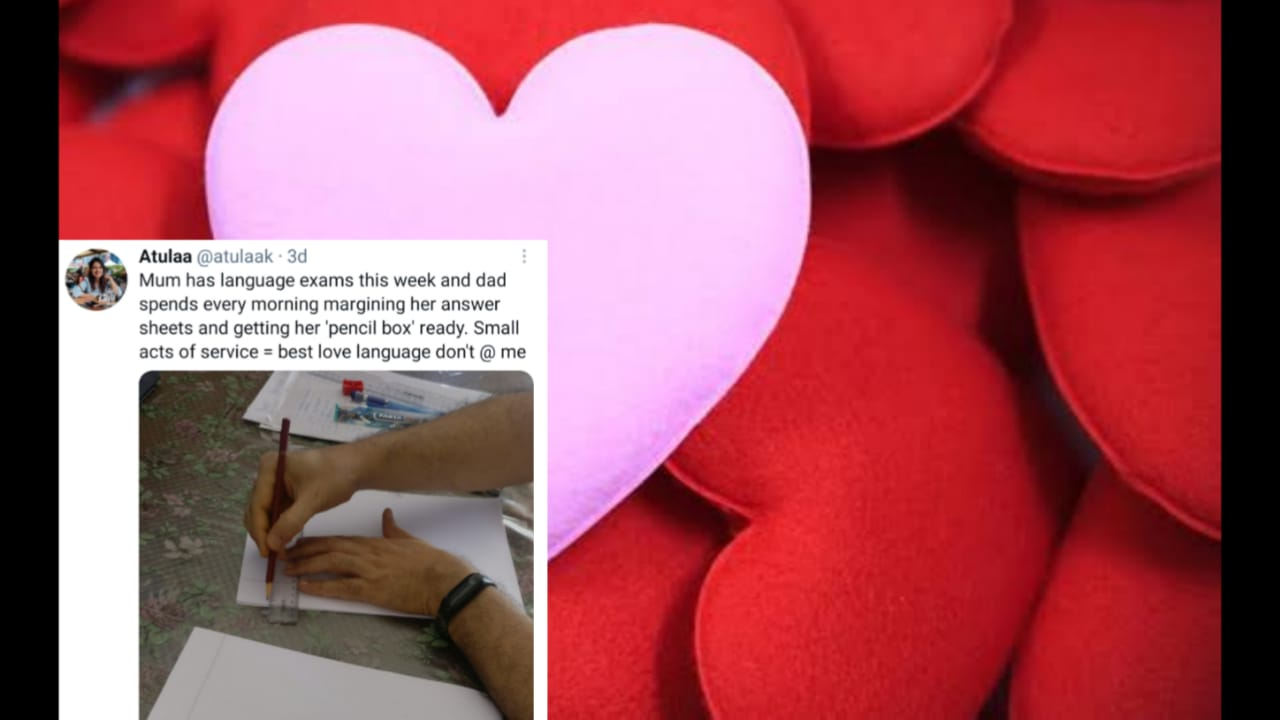 Girl shares a post about her Dad helping mom prepare for exams, melts heart on internet