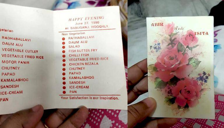 This Bengali wedding menu card from the 90s is making Netizens go nostalgic. Check viral post