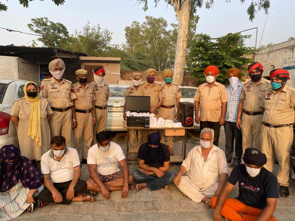 Kapurthala police crackdown against counterfeit note business, six arrested in special operation