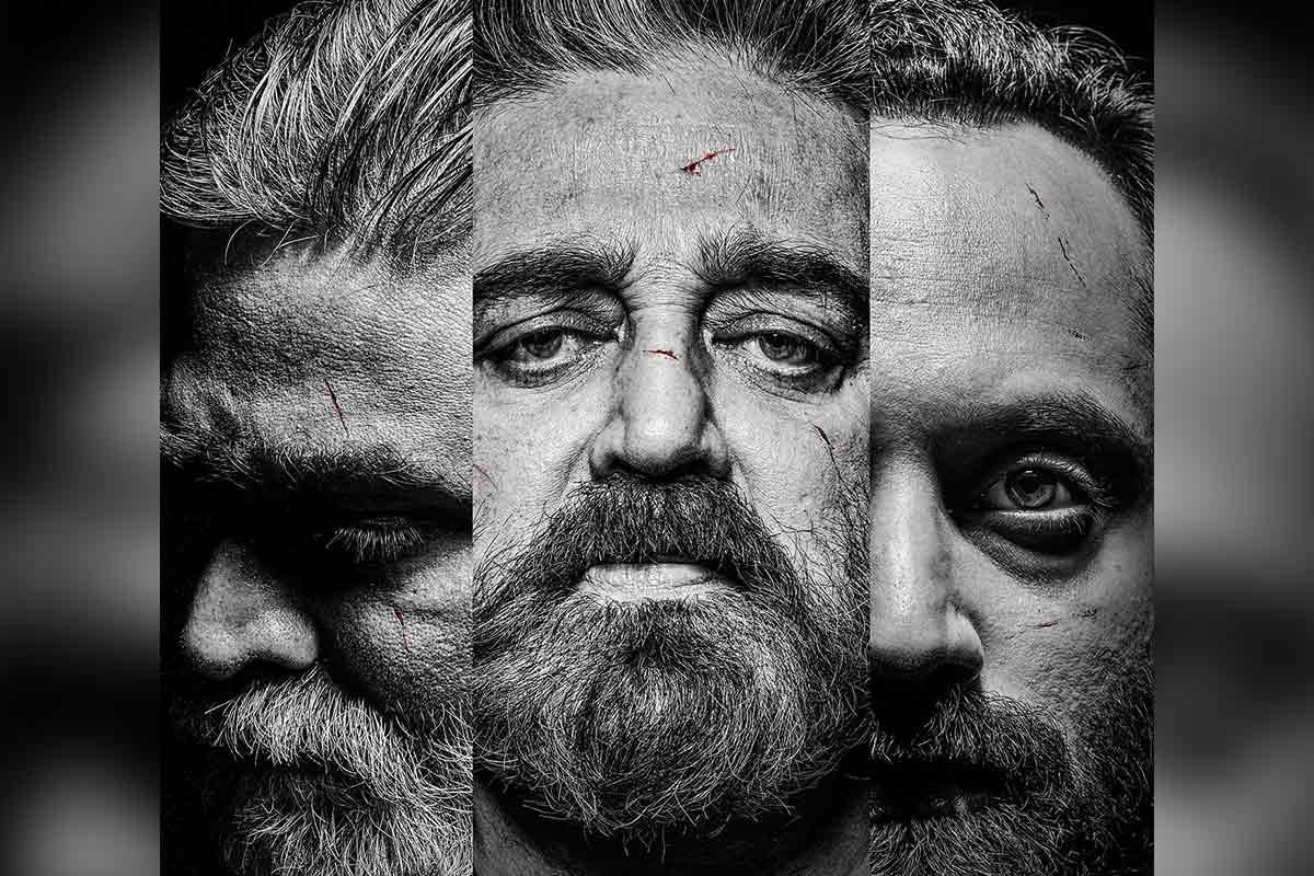 "Kamal Haasan, Fahadh Fassil and Vijay Sethupathi's fiery look for ""Vikram"" has stormed the internet"