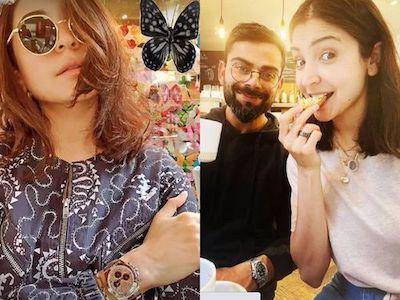 Anushka Sharma clicked selfie, fans spotted Virat Kohli in her sunglasses. See Viral PIC