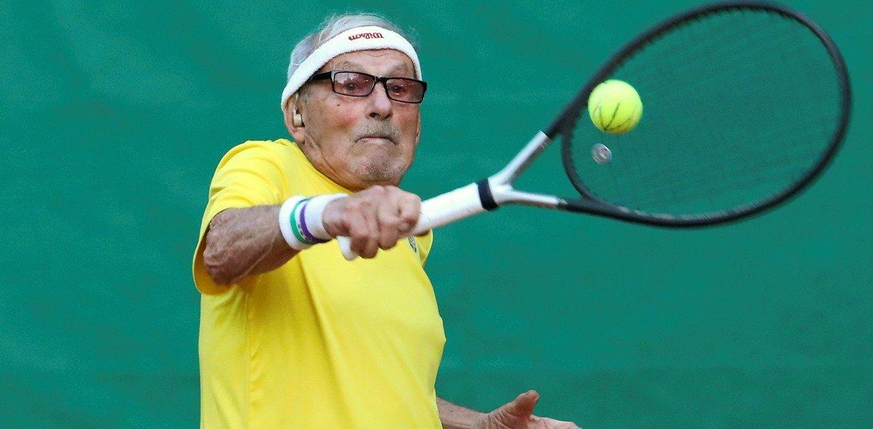 World's oldest tennis player! 97-year-old Ukrainian starts training for 2021 Super-Senior World Championship