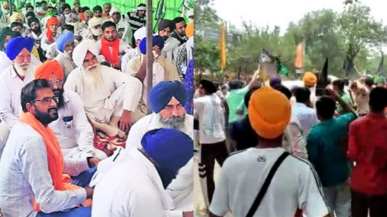 Farmer's gherao BJP leader at Chandigarh, Police use lathi-charge, several detained