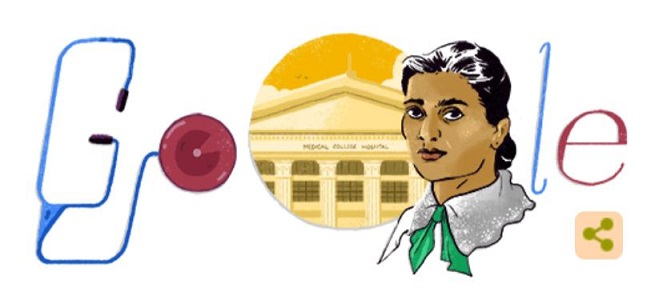 Google Doodle pays tribute to India's first female doctor, Kadambini Ganguly, on her 160th birthday
