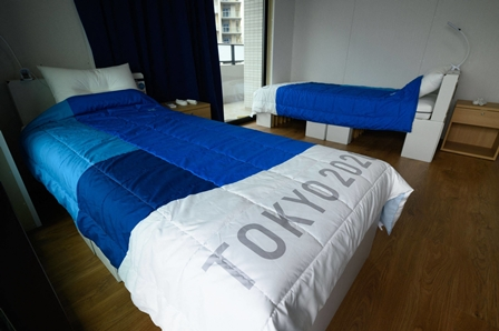 'Anti-sex' beds introduced for athletes :Tokyo Olympics
