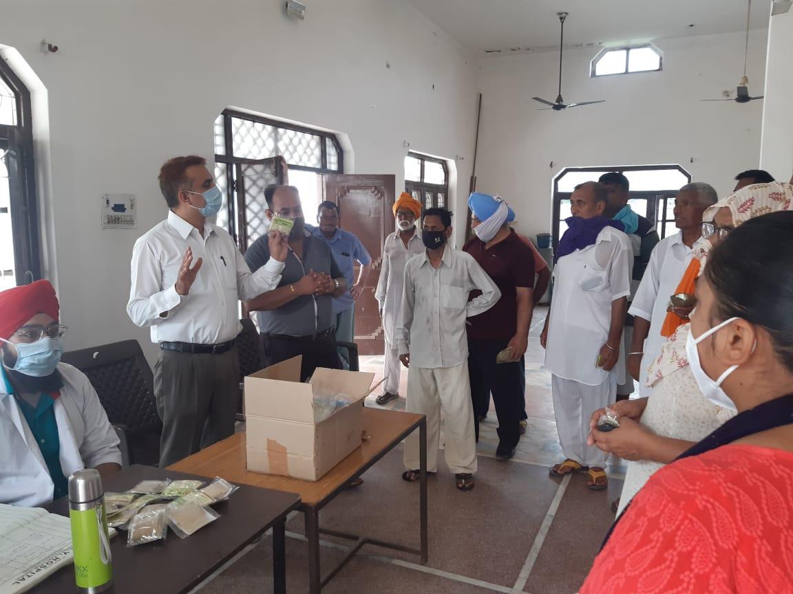Dayanand Ayurvedic college organised kadha distribution camp at Village Mokhe