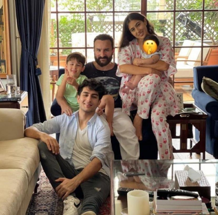 Sara Ali Khan wishes 'Eid Mubarak' to fans; shares pic with Saif, Ibrahim, Taimur and the little one