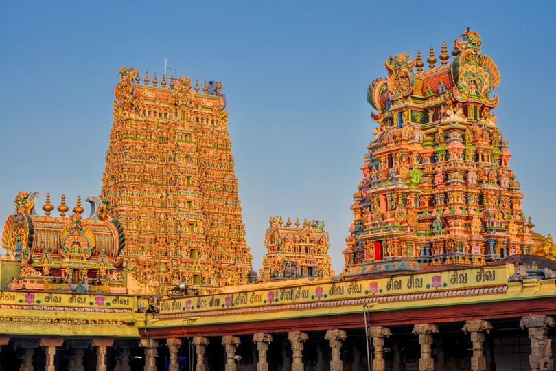 Elephant Mud flooring in stable of Madurai Meenakshi Temple
