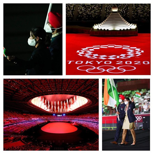 Punjab's Manpreet Singh, Boxer MC Mary kom lead Indian Contingent at Opening Ceremony of Tokyo Olympics 2020