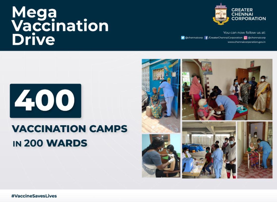 Chennai corporation conducts mega Covid-19 vaccination drive today