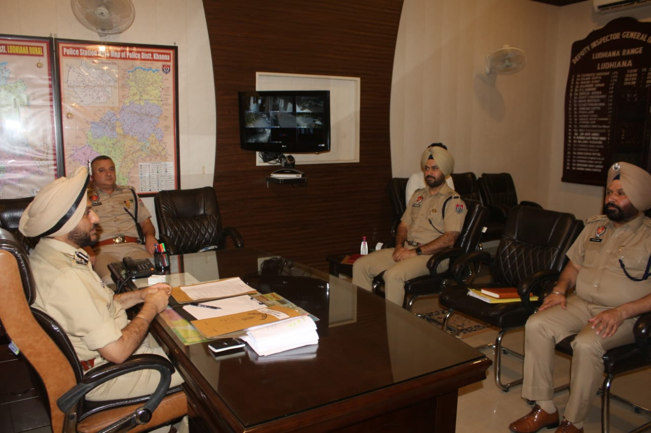 DIG Ludhiana holds meeting with range SSPs and other officials, directs to increase vigil in their areas