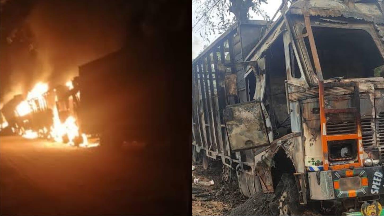 Militants set seven trucks on fire in Assam, 5 killed