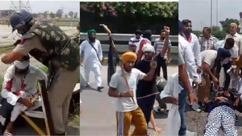 10 injured in police's fierce lathi-charge in Karnal; Farmers block all roads