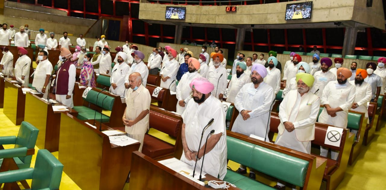 Punjab CM leads Vidhan Sabha in obituary references to noted personalities & farmers died during agitation