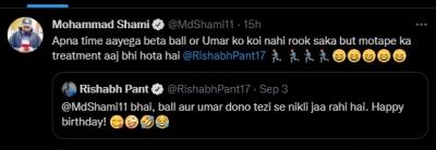 Shami brutally trolls Pant, calls him 'overweight'