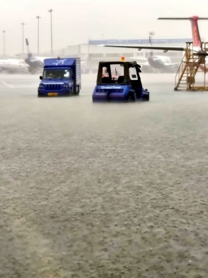 Steep gradient, heavy rains led to waterlogging at T3 of IGI airport: DIAL