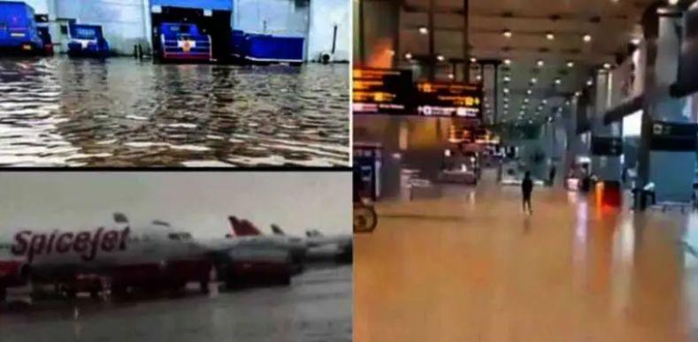 Delhi airport flooded after rains, receives highest rainfall since 1975