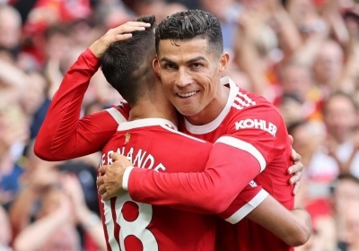 Ronaldo scores a brace on second debut for Man United