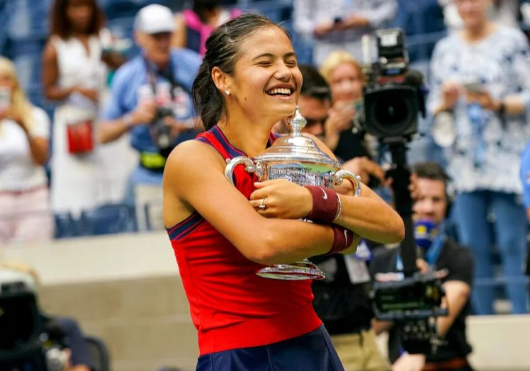 Teenage tennis superstar Emma Raducanu basks in the glory of her US Open triumph