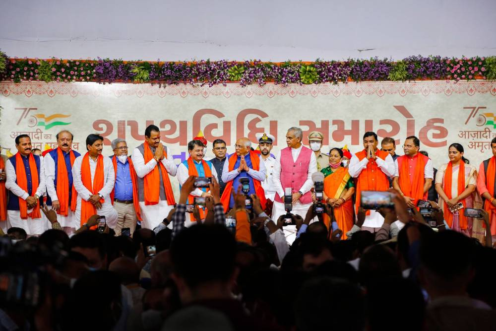 Gujarat's cabinet witnesses reshuffle a year before election