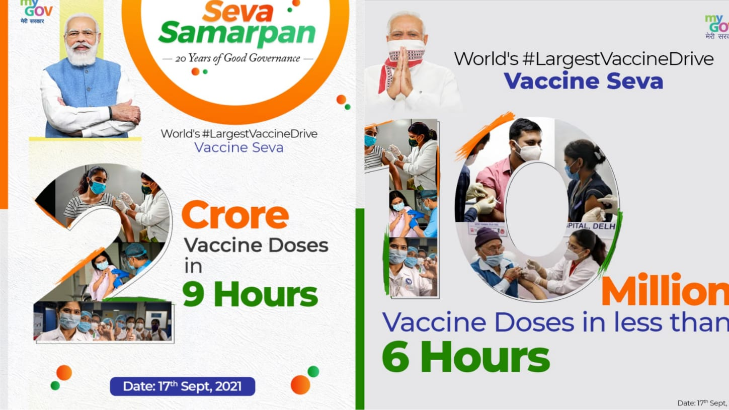 India administers over 2cr vaccine doses in single day, sets new record on PM Modi's birthday