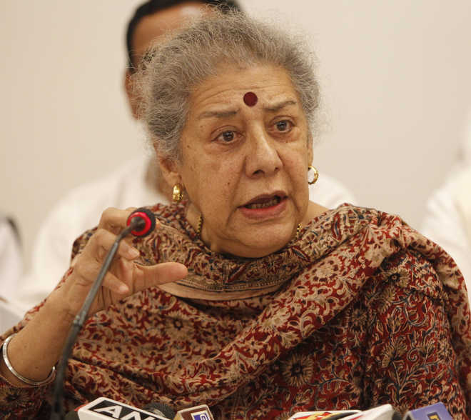 Ambika Soni refuses Punjab CM's post offer, says 'leader must be Sikh'
