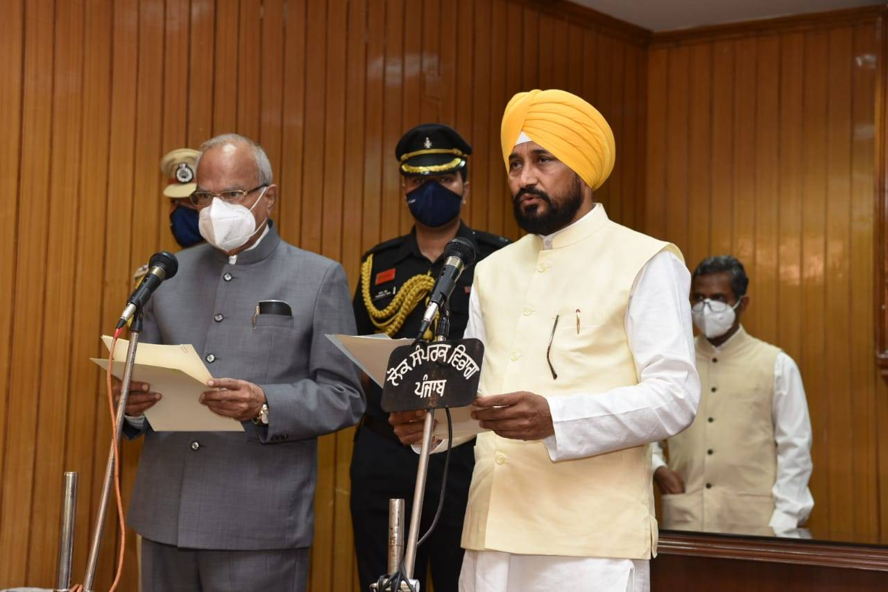PM Modi' congratulatory note for Punjab's new CM Charanjit Channi