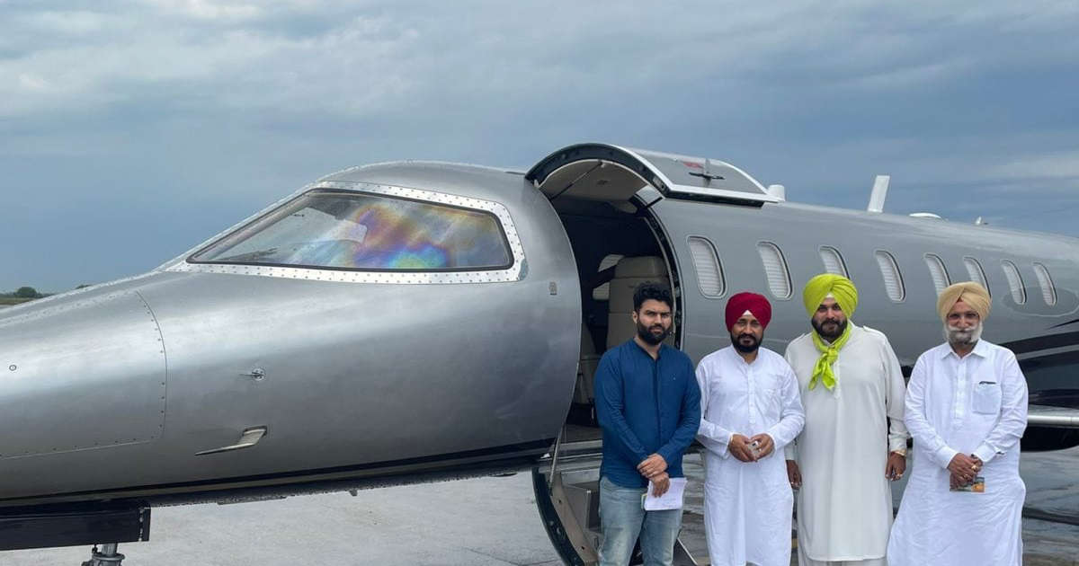 Channi-Sidhu draw flak from Opposition for use of private jet for visit to Delhi