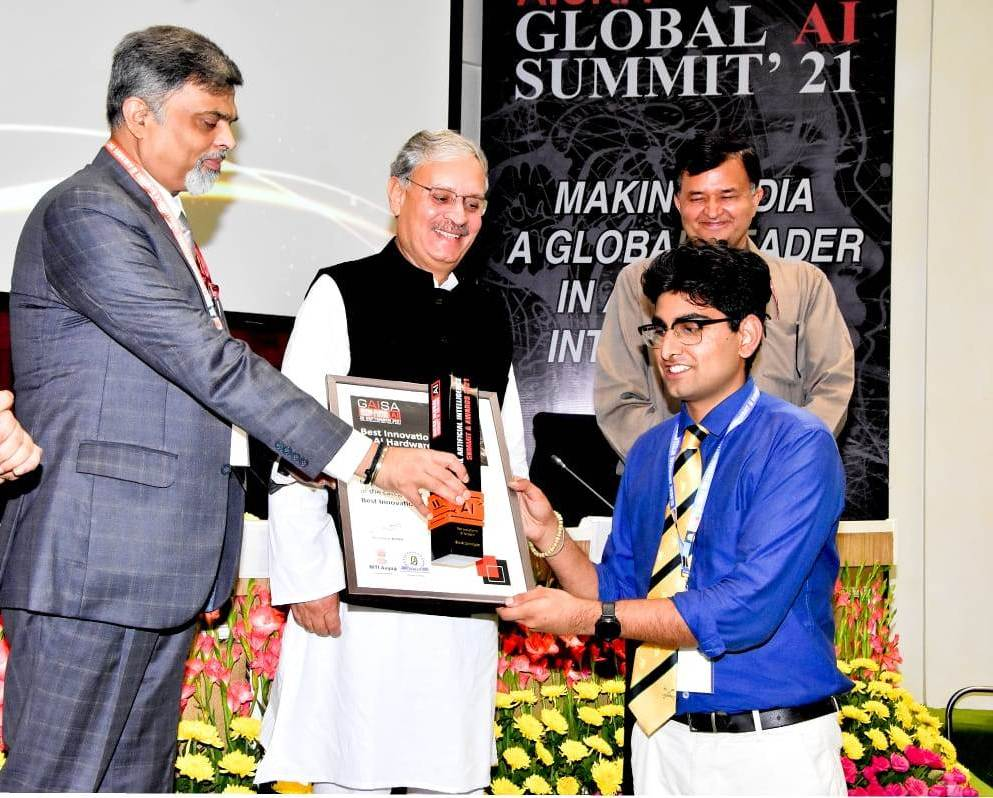 LPU student won Best Innovation award for Artificial intelligence in NITI Aayog supported Event