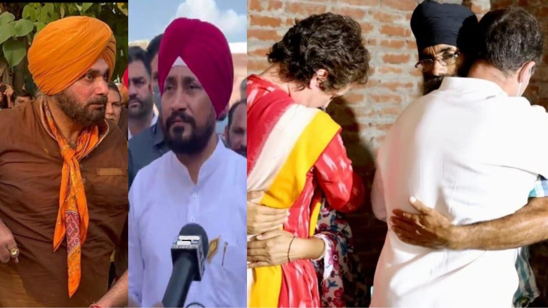 Punjab Congress unite against Lakhimpur violence: CM Channi joins convoy led by Sidhu, latter detained