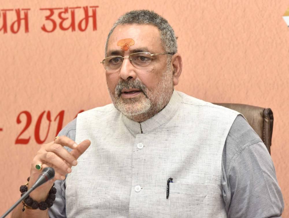 """Rahul Gandhi's Lakhimpur visit merely """"political tourism"""": Union minister Giriraj Singh"""