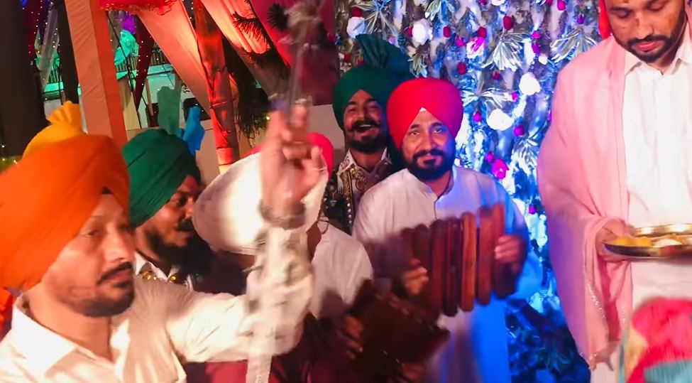 Punjab CM Channi shows 'hidden talent', plays traditional music instruments at son's wedding