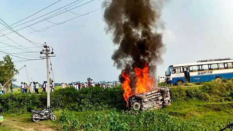 Security beefed up in Maharashtra; BJP criticises MVA of playing politics over Lakhimpur incident