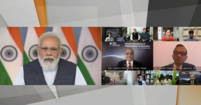 """PM Modi launches Indian Space Association, says """"We are moving to Space Age"""""""