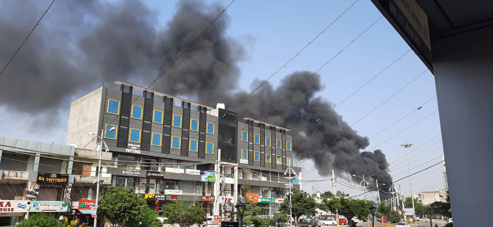 Massive fire breaks out at scrap godown near PPR in Jalandhar, no casualty reported