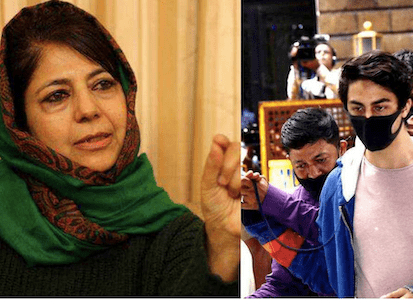 Police Complaint Against Mehbooba Mufti for saying SRK's son Aryan being targeted for his surname 'Khan'