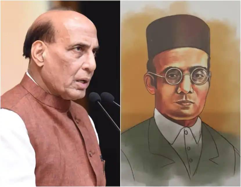 Savarkar filed mercy pleas at the behest of Mahatma Gandhi, claims Rajnath Singh