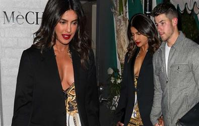 Priyanka Chopra and Nick Jonas spotted on a day out in Rs 1 lakh thigh-slit dress