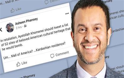 "Indian-American professor fired for ""Joke"" On Iran's 'Bomb US Sites' List"