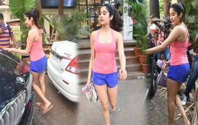 Pics: Jahnvi Kapoor spotted outside gym is a treat to watch for her fans