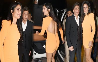 Katrina kaif spotted in backless dress for Ali Abbas Zafar's birthday party. Pics Inside