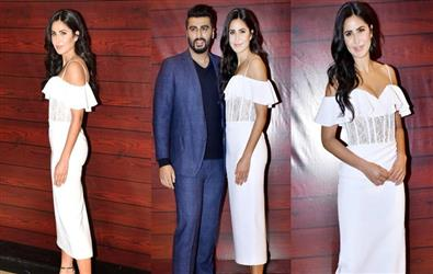 Pics: Style Icon Katrina Kaif Spotted in figure-hugging sheer dress at Javed Akhtar birthday party