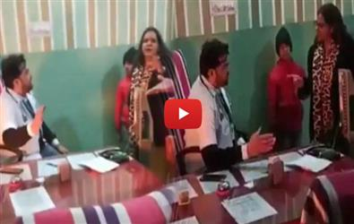 Rajasthan SDM threatens doctor after he refused to vacate seat. Video goes viral